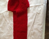 Hat and scarf combo in RED