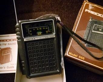 Precor AM FM Transistor Radio