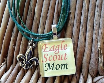 Glass Tile Charm Necklaces By Maggietaggie On Etsy
