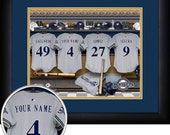 PERSONALIZED & FRAMED MLB Milwaukee Brewers Sports Print