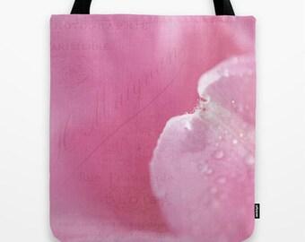 Tulip Petal Photo Tote Bag, Photo Tote, Tote Bag, Photo Bag