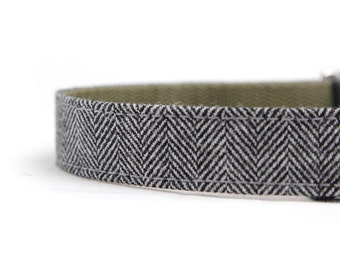 Dog Collar - Herringbone Tweed
