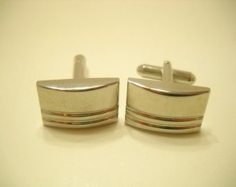 Vintage Silver Tone Cuff Links (8684**)