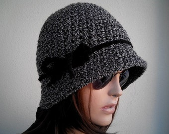 woman Hats, GIFT for Womens hats -winter hat Chemo Hat chunky knit Slouchy black Beanie Slouch Hat Fall Winter Beanie Autumn