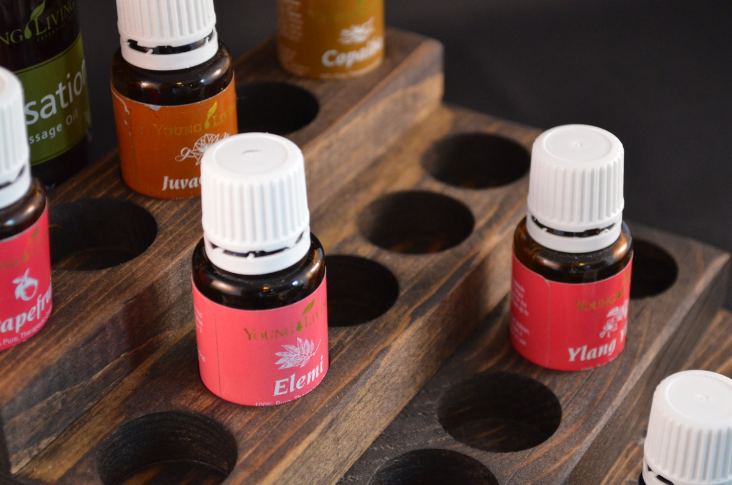 24 Bottle Essential Oil Display Young Living Doterra Ameo