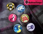Boyfriend Badges: Advanced Achievements--set of 6