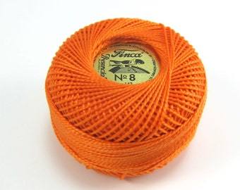 Finca Perle Cotton Thread Pearl Cotton - Tangerine