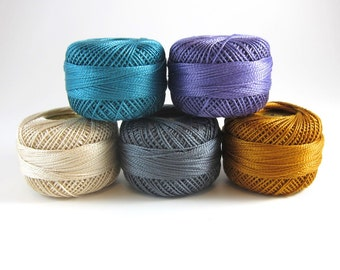 Indelible Inspired Pearl Cotton Thead Set - 5 Color Finca Perle Cotton Thread Set