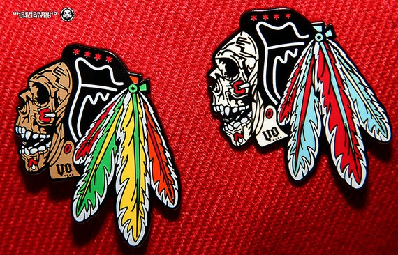 Blackhawks Hat With Feathers Dead Feathers Hat Pin Hard