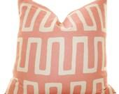 Decorative Pink Pillow - Modern Geometric Pink Ivory Pillow Cover - Throw Pillow - Designer Pillow - Blush Pink  Pillow- Pale Pink