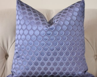 Blue Purple Pillow Cover - Periwinkle Blue Geometric Pillow - High End Pillow Cover - Throw Pillow - Spring and Summer