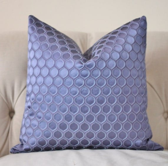 Blue Purple Pillow Cover Periwinkle Blue by MotifPillows on Etsy