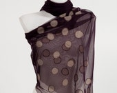Elibelindeart Dotted gray points on claret red tulle, chic and unique. Usable for night , daily and beachwear