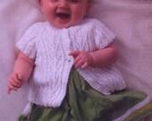 3097 pdf King Cole Knitting Pattern,  Baby Girl/Boy, 3 in-one cardigan, jumper, jacket,  double knit.