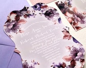 Die Cut Wedding Invitations - Floral Wedding Invitations die cut {Covington design ~ Ornate die cut}