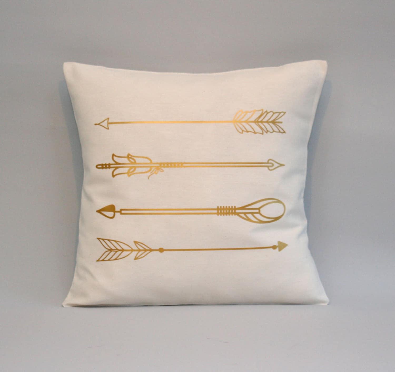 Gold Arrows Pillow cover gold pillow Arrow cushion throw