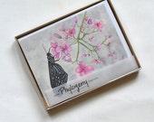 Butterfly Watercolor reprint notecard set of 10 garden artwork eco friendly
