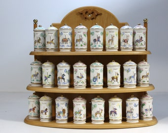 Popular items for kitchen spice rack on etsy for Carousel spice racks for kitchen cabinets
