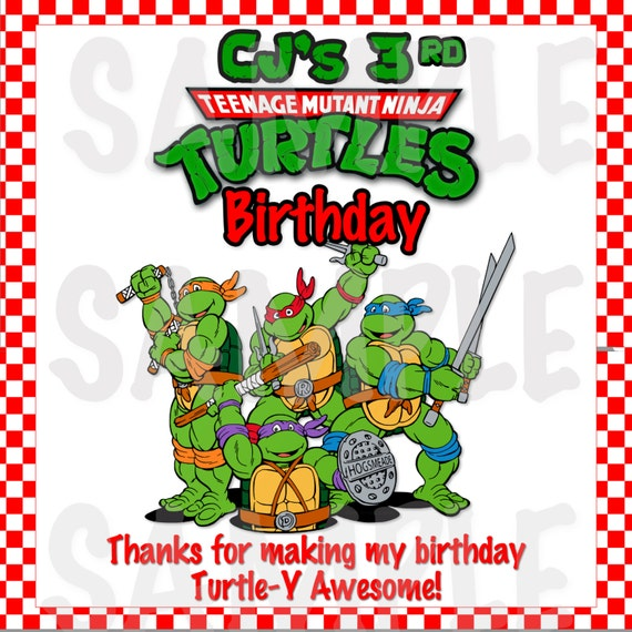 Personalized Ninja Turtle Invitations with beautiful invitation example
