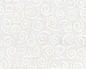 Muslin Mates Swirls White for Moda 9920 11