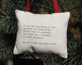 The Book Thief Christmas Quote Ornament Or Door Hanger