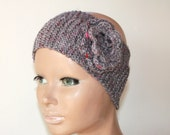 Headband Earwarmer Headwrap Crochet Flower Hat Cozy Earth Girly Romantic Gift