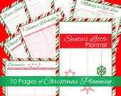 Christmas Planner, Christmas Organizer, Holiday Planner, Holiday Organizer, Candy Cane Christmas Printable Planner Instant Download