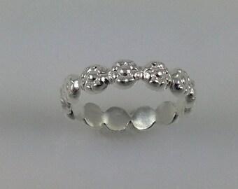 Flower- Sterling Silver Rings Flower ring  sterling silverJewelry  Handmade