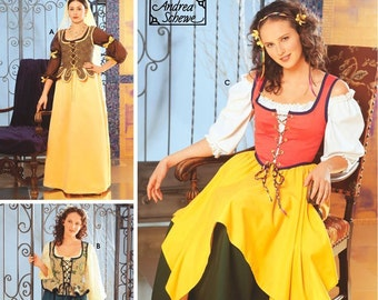 Renaissance Fashion // Misses M, L, XL // Simplicity 5582 // Sizes 12-20 // Fantasy Costume // Halloween // RenFaire // Dress