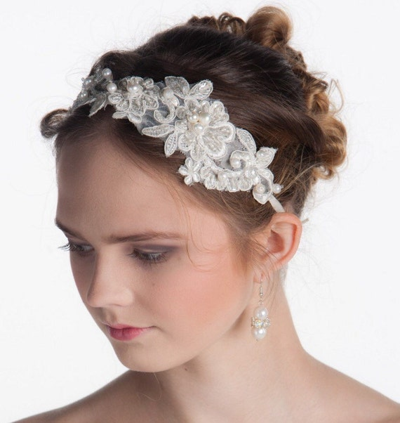 flower headbands for weddings items similar to lace headband bridal headband flower 4196