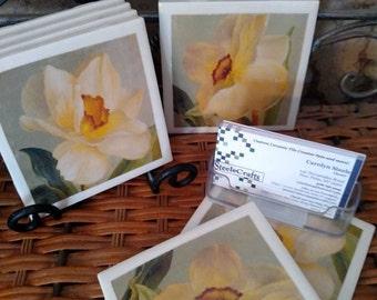 Daffodil Coasters