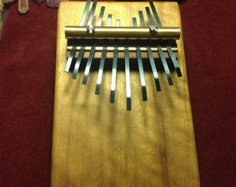 Kalimba Mbira Thumb Piano hand crafted from local salvaged Hardwood and quality hardware. Amazing sound