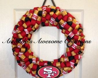 San Francisco 49ers Wreath