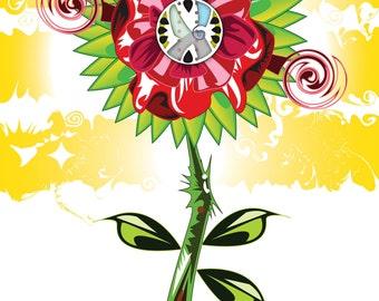 Wild Flower graphic print