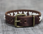 Men's Bracelet with Gold Metal Buckle -Wrist Belt Style -Adjustable,Genuine leather bracelet Woven  Jewelry Unisex - -Hand Stitched