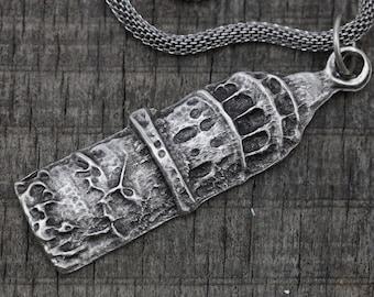 Istanbul Galata tower necklace silver-plated, Bohemian Jewelry -Tribal jewelry ethnic jewelry