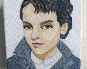 Lana,  original portrait painting of a beautiful vintage woman.