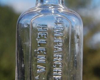 Antique MONTANA TERRITORY pharmacy bottle H M Parchen HELENA M T = Montana Terrotory - pre 1890