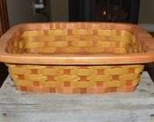 Wood Casserole carrier tote basket
