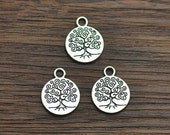 5/10/20 Tree of Life Charms Antique Tibetan Silver Tone - SC2016