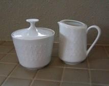 Vintage White Mitterteich Bavaria Cream and Sugar Set