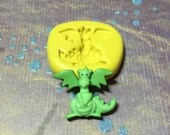 Fairytale Dragon Flexible Silicone Polymer Clay Soap Chocolate Fondant Cake Decorating Push Mold - Food Grade 26x21mm