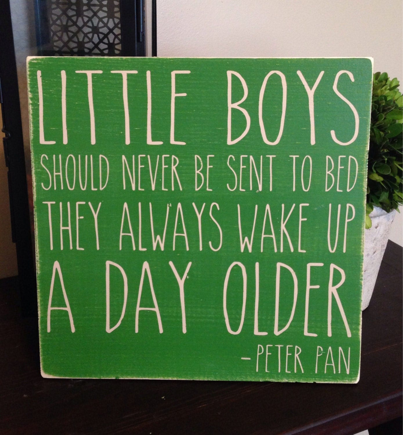 Peter Pan Quotes: Peter Pan Quote Handpainted Wood Sign Little Boys Should