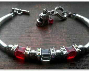 Ohio State Buckeyes Swarovski Crystal Bracelet