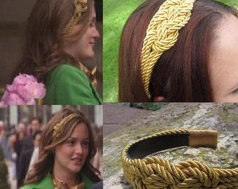 Gossip Girl Inspired Gold Nautical Rope Headband
