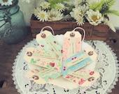 "vintagey ""happy birthday"" gift tags no. 2- set of 6"