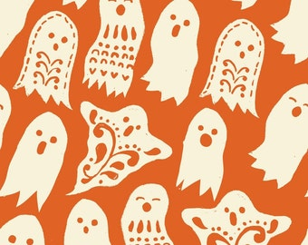 Boo in Orange: Spooktacular by Maude Asbury 1 Yard Cut