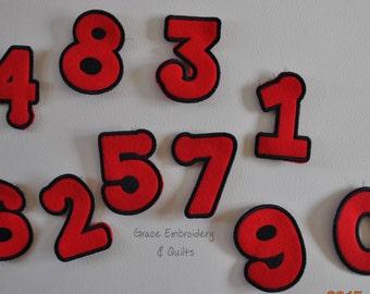 Felt Number Magnets