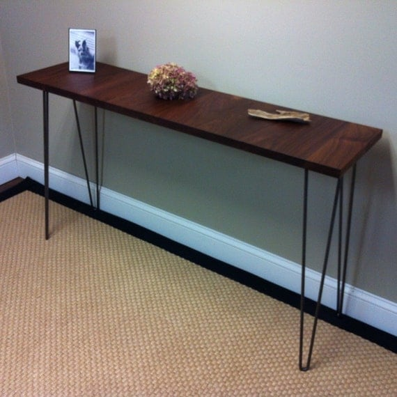 Modern Entryway Tables: Mid Century Modern Sofa Table Entry Table Or By Scottcassin