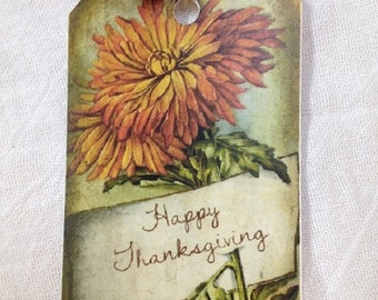 Thanksgiving Hang Tags Set of 6
